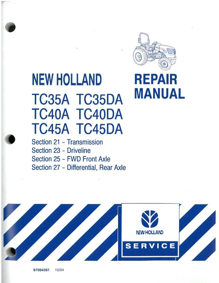 New Holland Tractor Manuals : New holland tractor tc a da